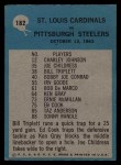 1964 Philadelphia #182   -  Wally Lemm  St. Louis Cardinals Back Thumbnail