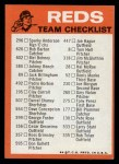 1973 Topps #7  Reds Team Checklist  Back Thumbnail