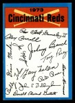 1973 Topps #7  Reds Team Checklist  Front Thumbnail