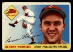 1955 Topps #29  Herm Wehmeier  Front Thumbnail