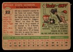 1955 Topps #22   Bill Skowron Back Thumbnail
