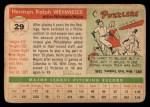 1955 Topps #29  Herm Wehmeier  Back Thumbnail