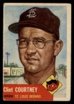 1953 Topps #127   Clint Courtney Front Thumbnail
