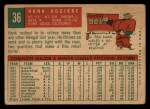 1959 Topps #36   Hank Aguirre Back Thumbnail