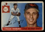 1955 Topps #105  Chuck Diering  Front Thumbnail