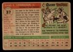 1955 Topps #37  Joe Cunningham  Back Thumbnail