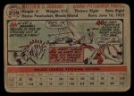 1956 Topps #209   Max Surkont Back Thumbnail