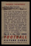 1951 Bowman #8   George Taliaferro Back Thumbnail