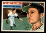 1956 Topps #44  Windy McCall  Front Thumbnail