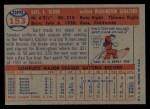 1957 Topps #153   Karl Olson Back Thumbnail