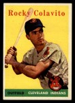 1958 Topps #368   Rocky Colavito Front Thumbnail