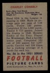 1951 Bowman #56   Charley Conerly Back Thumbnail