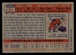 1957 Topps #121  Clete Boyer  Back Thumbnail