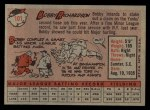 1958 Topps #101 WN Bobby Richardson  Back Thumbnail