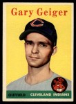 1958 Topps #462   Gary Geiger Front Thumbnail