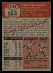 1953 Topps #153   Andy Seminick Back Thumbnail