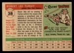 1955 Topps #38  Bob Turley  Back Thumbnail