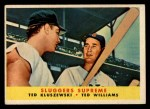 1958 Topps #321  Sluggers Supreme    -  Ted Williams / Ted Kluszewski Front Thumbnail