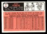 1966 Topps #461  Roy Face  Back Thumbnail