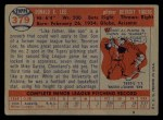 1957 Topps #379  Don Lee  Back Thumbnail