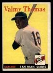 1958 Topps #86   Valmy Thomas Front Thumbnail