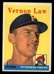 1958 Topps #132  Vern Law  Front Thumbnail