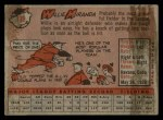 1958 Topps #179  Willy Miranda  Back Thumbnail
