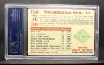 1956 Topps #72 D55 Phillies Team  Back Thumbnail