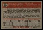1952 Topps #236   Ed Fitzgerald Back Thumbnail
