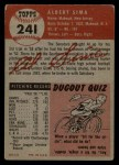 1953 Topps #241   Al Sima Back Thumbnail