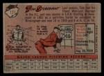 1958 Topps #127   Tom Sturdivant Back Thumbnail