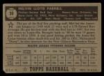 1952 Topps #30 BLK Mel Parnell  Back Thumbnail