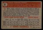 1952 Topps #28 RED Jerry Priddy  Back Thumbnail