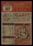 1953 Topps #117   Sid Gordon Back Thumbnail