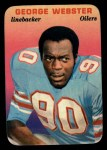 1970 Topps Glossy Inserts #26   George Webster Front Thumbnail