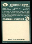 1960 Topps #78  Roosevelt Brown  Back Thumbnail