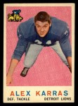1959 Topps #103   Alex Karras Front Thumbnail