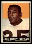 1961 Topps #105   John Henry Johnson Front Thumbnail