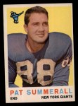 1959 Topps #41   Pat Summerall Front Thumbnail