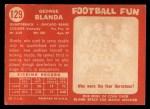 1958 Topps #129  George Blanda  Back Thumbnail