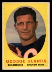 1958 Topps #129   George Blanda Front Thumbnail