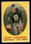 1958 Topps #90   Sonny Jurgensen Front Thumbnail