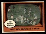 1961 Topps #57  1960 Football Highlights  -  Johnny Unitas Front Thumbnail