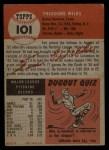 1953 Topps #101  Ted Wilks  Back Thumbnail