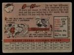 1958 Topps #13 WN  Billy Hoeft Back Thumbnail