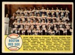 1958 Topps #312  Red Sox Team Checklist  Front Thumbnail