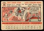 1956 Topps #48   Jim Hegan Back Thumbnail