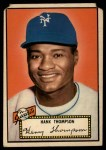 1952 Topps #3 RED  Hank Thompson Front Thumbnail
