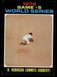 1971 Topps #331  1970 World Series - Game #5 - B. Robinson Commits Robbery  -  Brooks Robinson Front Thumbnail