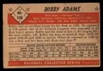 1953 Bowman #108   Bobby Adams Back Thumbnail